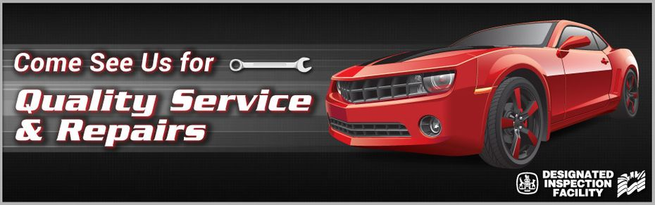 Come See Us For Quality Service & Repairs | red Camaro