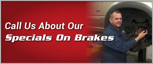 CALL US ABOUT OUR SPECIALS ON BRAKES | Bill doing brakes